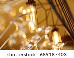 lamps and glasses bar lighting... | Shutterstock . vector #689187403