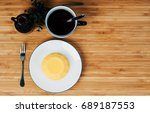 tea pudding in a bowl  on a... | Shutterstock . vector #689187553