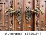 Handle And Main Door Of Castle...