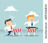 business concept illustration... | Shutterstock .eps vector #689206843