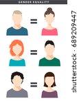 vector gender equality... | Shutterstock .eps vector #689209447