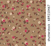 floral pattern. seamless small... | Shutterstock .eps vector #689210467
