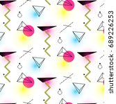 triangle and cylinder pattern... | Shutterstock . vector #689226253