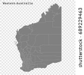 high quality map of western... | Shutterstock .eps vector #689229463