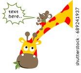 little mice slides down on... | Shutterstock .eps vector #689241937