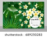 template cover of a copybook... | Shutterstock .eps vector #689250283