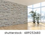 modern bright living room ...   Shutterstock . vector #689252683