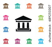 isolated academy icon.... | Shutterstock .eps vector #689253307