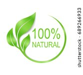 100% natural vector logo design. | Shutterstock vector #689266933