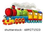 cartoon funny looking steam... | Shutterstock . vector #689271523