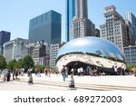 chicago  il   june 9  2012  ... | Shutterstock . vector #689272003