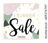 fashion  summer sale background ... | Shutterstock .eps vector #689276797