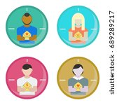 target audience and email... | Shutterstock .eps vector #689289217