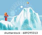 alpine climber | Shutterstock .eps vector #689295313