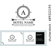 luxury logo template in vector... | Shutterstock .eps vector #689322193