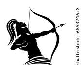 warrior archer. | Shutterstock .eps vector #689324653