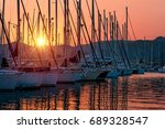 Sailboats In The Harbor In Mil...