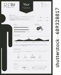 resume infographic cv vector... | Shutterstock .eps vector #689328817