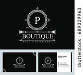 luxury logo template in vector... | Shutterstock .eps vector #689329963