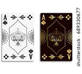 ace of spades in classic black...   Shutterstock .eps vector #689330677