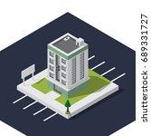 isometric building | Shutterstock .eps vector #689331727