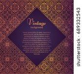 premium frame in oriental style....   Shutterstock .eps vector #689332543