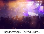 crowd at concert   cheering... | Shutterstock . vector #689333893