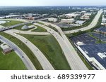 aerial view of a highways ... | Shutterstock . vector #689339977