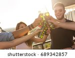 group of young friends having...   Shutterstock . vector #689342857
