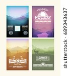 a4 style flyer design ... | Shutterstock .eps vector #689343637