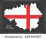 greater manchester map england... | Shutterstock .eps vector #689344507
