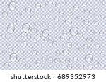 clear vapor bubbles on window... | Shutterstock .eps vector #689352973