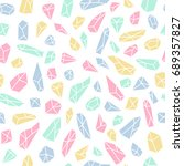 geometric seamless pattern with ... | Shutterstock .eps vector #689357827
