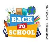 vector illustration of back to... | Shutterstock .eps vector #689358787