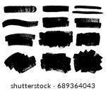 vector black paint  ink brush... | Shutterstock .eps vector #689364043