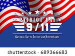 patriot day background with us...   Shutterstock .eps vector #689366683