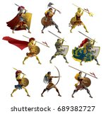 history warriors collection   Shutterstock .eps vector #689382727