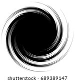 radial lines with rotating... | Shutterstock . vector #689389147