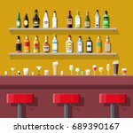 drinking establishment.... | Shutterstock .eps vector #689390167