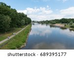 Small photo of river Weser at Minden, Germany