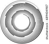 radial geometric element series.... | Shutterstock . vector #689404987
