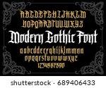 Vector Modern Gothic Alphabet...