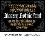vector modern gothic alphabet... | Shutterstock .eps vector #689406433