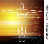 digital illustration of human...   Shutterstock . vector #689410003