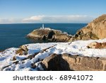 South Stack Lighthouse In Winter