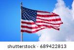 us flag | Shutterstock . vector #689422813
