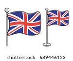 united kingdom flag. great...   Shutterstock .eps vector #689446123