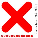 cross symbol with different... | Shutterstock . vector #689463373