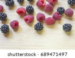 top view of summer fresh... | Shutterstock . vector #689471497