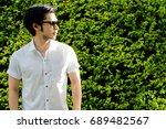 portrait a smart man  a... | Shutterstock . vector #689482567
